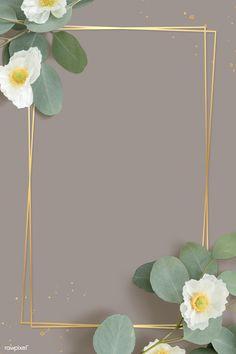 Gold Wallpaper Background, Flower Phone Wallpaper, Wallpaper Backgrounds, Wallpapers, Rose Frame, Flower Frame, Cherokee Rose, Sunflower Wallpaper, Instagram Frame