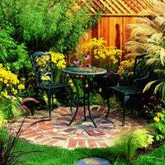 Tuck it into a border or garden corner, where you can linger with a morning latte or an evening glass of wine
