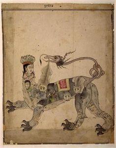 Animal mythique à figure humaine, Vers 1725