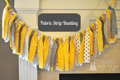 Fabric strip bunting tutorial by Double the Fun Parties