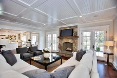 Love the ceiling - Family Room - Staging by @meridithbaer