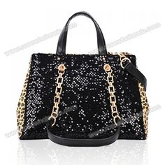 Wholesale Elegant Stylish Casual Women's Tote Bag With Sequins and Metal Chain Design (LEOPARD), Tote Bags - Rosewholesale.com