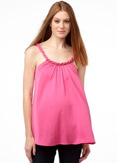 a590ae78fcc17 Love this Highlighter Pink Lucy Maternity Scoop Neck Tank by Rosie Pope  Maternity on