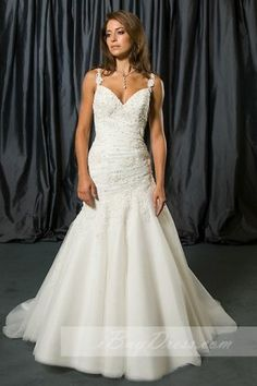 $399.99 - Satin Wedding Dresses,Long Wedding Dresses 17918