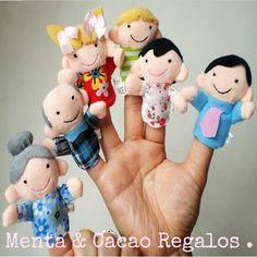 Marionetas dedo , familia