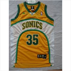daf17d89f New Men s Seattle SuperSonics Kevin Durant Yellow Swingman NBA Basketball  Jersey 820103337403 on eBid United States