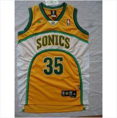 New Men's Seattle SuperSonics Kevin Durant Yellow Swingman NBA Basketball Jersey 820103337403 on eBid United States