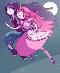 Dance at Midnight by Majigoma (@Deviantart) Bubbline, Marceline, Princess Bubblegum, Sugarless Gum