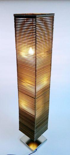 Lampa z kartonu wysoka - 4