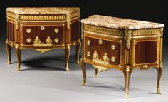 A PAIR OF LOUIS XVI STYLE GILT-BRONZE MOUNTED KINGWOOD, SATINÉ AND SATINWOOD COMMODES, PARIS, LAST QUARTER 19TH CENTURY, PAUL SORMANI 1817 - 1887 AFTER THE MODEL BY CHARLES TOPINO | Sotheby's