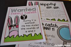Bandit Bunny Y- Teaching the Long /i/ and /e/ sound spelled with Y Teaching Reading, Fun Learning, Teaching Ideas, Spring Activities, Holiday Activities, Word Study, Word Work, Spring School, First Grade Reading