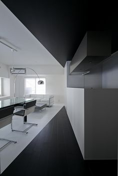 Black and White Apartment Design  Room 407 Project in Tokyo