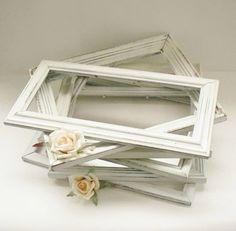 Distressed White Frames.