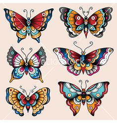Tattoo butterflies vector by Reinekke on VectorStock®