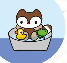 Most popular tags for this image include: landry, duck, frog, kawaii and racoon