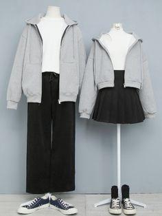 마리쉬♥패션 트렌드북! Korea Fashion, Kpop Fashion, Japan Fashion, Cute Fashion, Girl Fashion, Fashion Dresses, Cute Couple Outfits, Casual Outfits, Fashion Design Sketches
