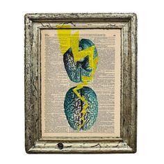 Brain Bolts of Lightening Original Collage Print on by AvantPrint, $7.00