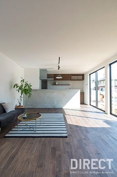 Muji Style, Japanese House, Living Room Kitchen, Kitchen Interior, Feng Shui, Home And Family, New Homes, House Design, Dining