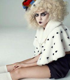 punkpistol-seditionaries:    .  Cara Delevigne modelling vintage 80s Vivienne Westwood Harris Tweed crown and ermine cape  .