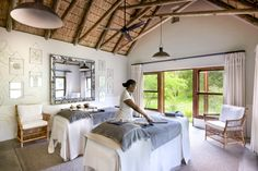 Formerly the family home of Singita founder Luke Bailes' grandfather, Singita Castleton is an exclusive use lodge set within acres of private reserve. Massage Treatment, Treatment Rooms, Lawns, Maine House, Rustic Chic, Contemporary Interior, Lodges, Pavilion, Cottages