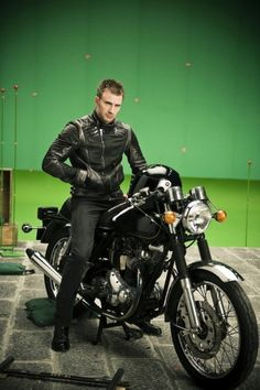 """CHRIS: """"Emilee, I know you're afraid of motorcycles because they're dangerous, but if you come ride it with me, that's not the only dangerously exhilarating thing you'll ride today..."""""""