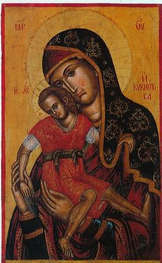 Holy Bishopric of Morphou: Brephokratousa Panagia Hodeghetria, Church of the Archangel Michael in Pedoulas Byzantine Icons, Byzantine Art, Religious Icons, Religious Art, Paint Icon, Medieval Paintings, Russian Icons, Archangel Michael, Madonna And Child