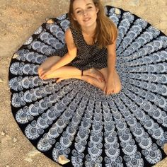 New Round Mandala Indian Hippie Boho Tapestry Wall Hanging Beach Throw Towel Outdoor Picnic Yoga Mat Blanket Home Decor 150cm