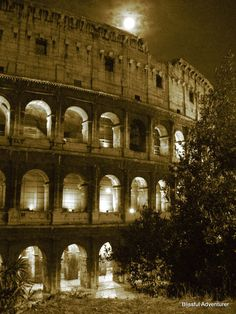The Colosseum on a Ghostly Night