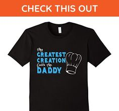 Mens My Greatest Creation Funny Father's Day T-shirt for Cook Dad 2XL Black - Funny shirts (*Amazon Partner-Link)