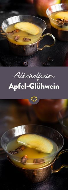 The non-alcoholic alternative: mulled apple wine Die alkoholfreie Alternative: Apfel-Glühwein Nobody has to do without the Christmas market feeling here, because with this apple mulled wine you have a delicious non-alcoholic alternative to the original.