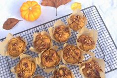 Maple Pumpkin Pecan Crunch Muffins I follow Lizzie Loves Healthy on Instagram and she gives me ideas every day. If you're trying to quit sugar then her treats are a must. I can't wait to try these.