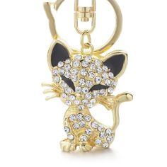 Crystal Cat Keychain - Love Cat Design Cat Jewelry, Jewelry Sets, Special Keys, Crystal Keychain, Cat Keychain, Pretty And Cute, Toe Rings, Fashion Jewelry, Pendants