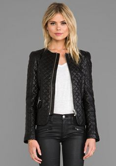 ANINE BING Quilted Jacket in Black - Jackets & Coats