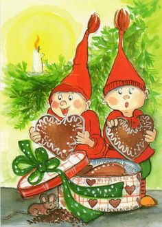 Postcrossing postcard from Finland Christmas Topper, Christmas Tale, Christmas Hearts, Christmas Drawing, Magical Christmas, Christmas Sweets, All Things Christmas, Illustration Noel, Christmas Illustration