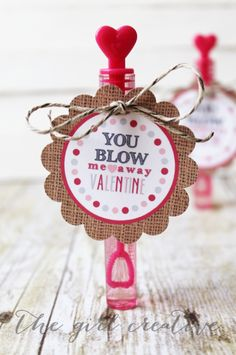 Bubbles Valentine Gift Kids Party Craft Ideas