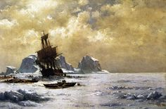 william bradford caught in the ice painting William Bradford, Famous Artists, Great Artists, Reproduction, Romanticism, Traditional Art, Art For Sale, Art Images, Les Oeuvres