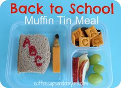 This back to school muffin tin meal is perfect for the first day of school!