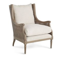 Halle Cane Back Chair - Furniture - Living Room - Accent Chairs & Armchairs - Wisteria Living Room Accents, Living Room Chairs, Living Room Furniture, Dining Chairs, Dining Room, Cane Furniture, Ikea Chairs, Eames Chairs, Metal Furniture