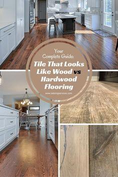 Tile That Looks Like Wood vs Hardwood Flooring Sebring Services Inexpensive Flooring, Wood, Hardwood, Wood Look Tile, Wooden Flooring, Hardwood Floors, Flooring, Wood Floors, Faux Wood Tiles