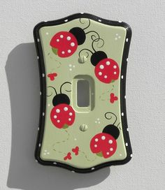 Ladybug Parade Switch Plate & Outlet Covers (Several Sizes Available)