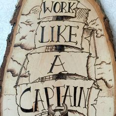 Pirografia nave arte lavoro come un capitano gioca di TimberleeEU