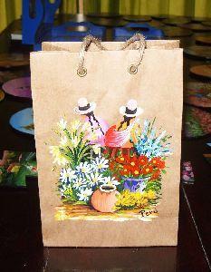 Artesanias: bolsas pintadas a mano por joana