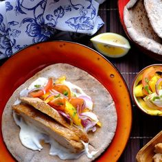 Slow Cooker Filipino Chicken Adobo Tacos with Fresh Mango Salsa. A delicious fusion recipe you can make in the slow cooker