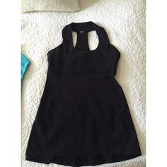 Lululemon tank Black lululemon tank with built in bra. Great condition! lululemon athletica Tops