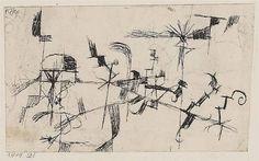 Paul Klee - Ohne Titel (abstracte Zeichnung), 1914...