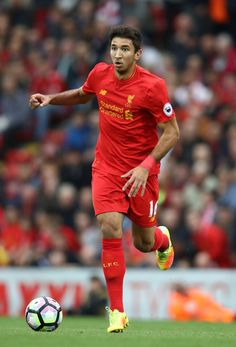 Marko Grujic of Liverpool in action during the Premier League match between Liverpool and Hull City at Anfield on September 24, 2016 in Liverpool, England.