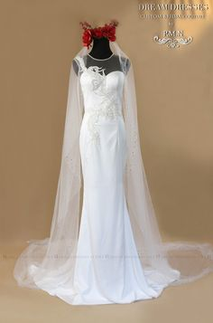 Cathedral Wedding Veil With All Over Crystal (#PB155)