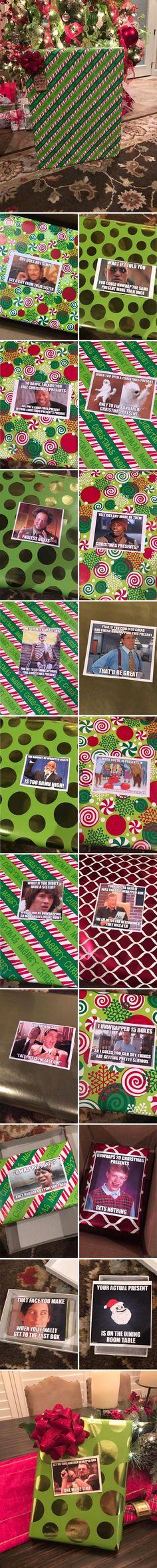 My Friend's Sister Had Some Fun With His Gift Wrapping