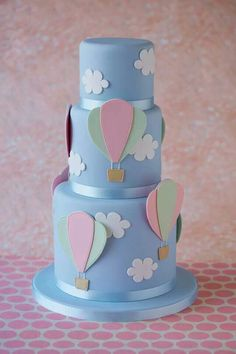 hot air balloon cake, I think this would be cute for a baby shower