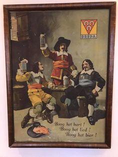 De drie Hoefijzers, hoog het hart!, hoog het lied!, hoog het bier! *foto genomen op de koksschool van Breda het Cingel College.